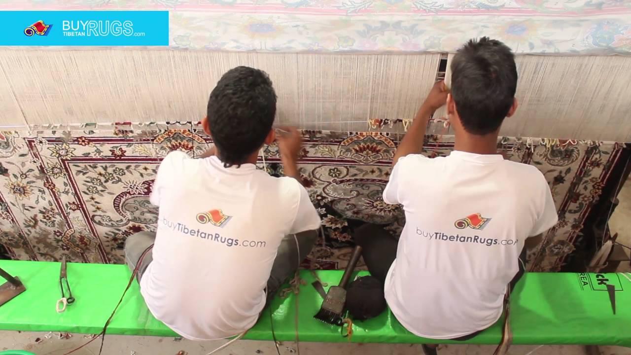 Tibetan Rugs Weaving Process In Nepal Industries