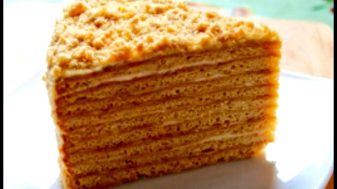 Медовик! Медовый торт! Домашний видео рецепт торта Медовый ...