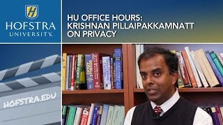 HU Office Hours: Krishnan Pillaipakkamnatt on Privacy.