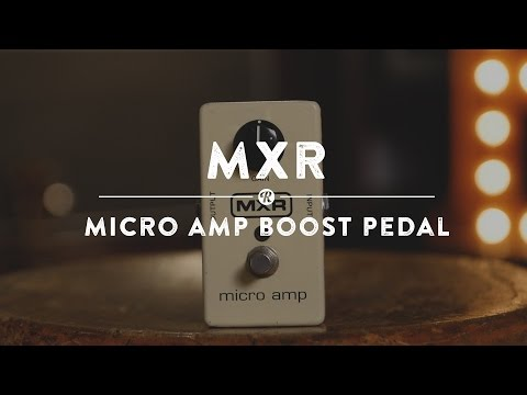 MXR Micro Amp Boost Pedal   Reverb Demo Video