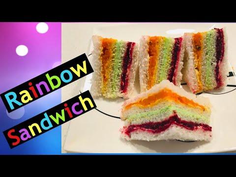 Rainbow Sandwich || Ribbon Sandwich || Sandwich For Kids Parties