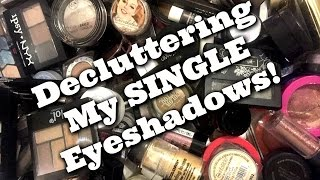 LIVE CHAT: DECLUTTERING My Small Palettes and Single Eyeshadow Collection! | Jen Luvs Reviews