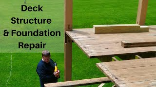 How to Rebuild a Dęck | Structure Repair & Fixing Dry Rot (Stoped Deck Collapse) | Part 1 of 3