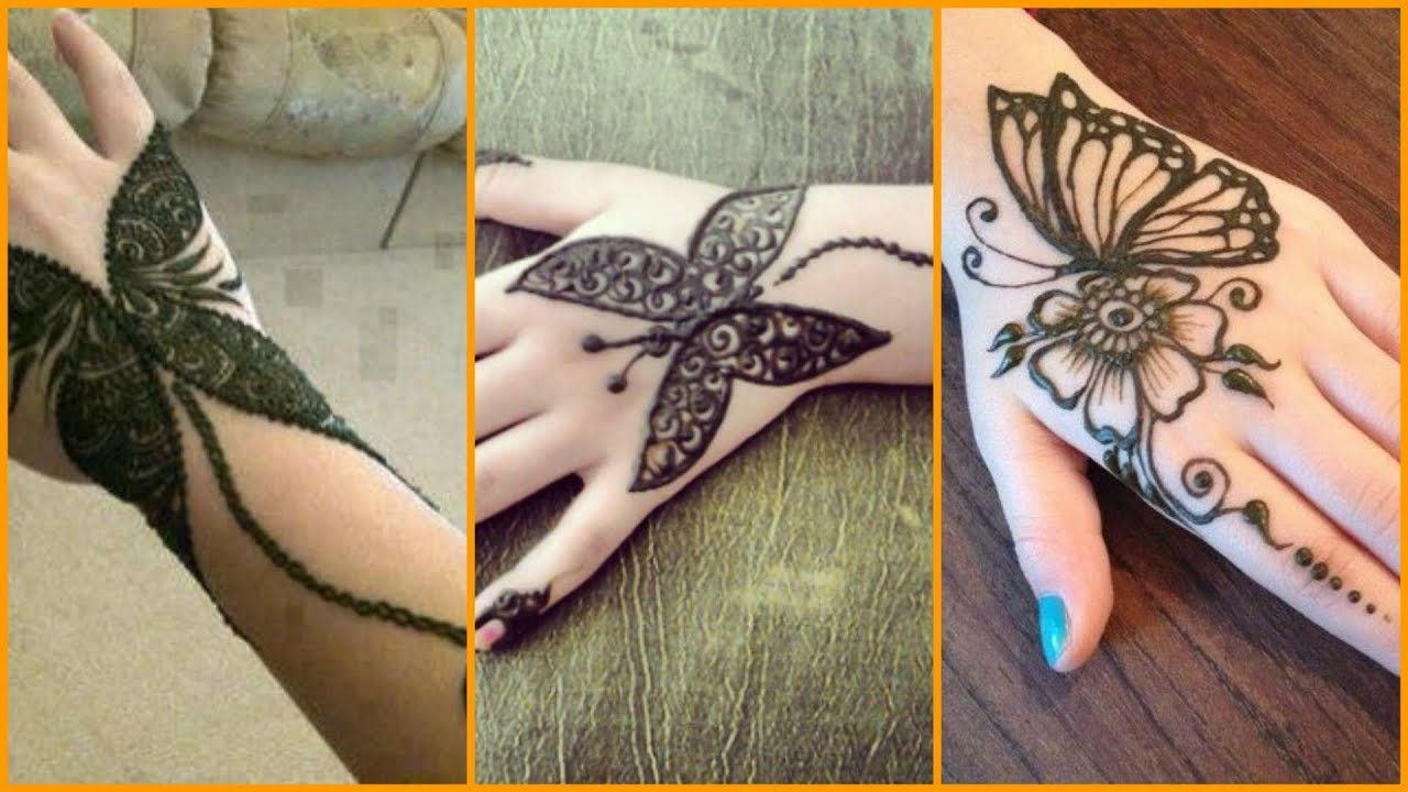 Some Beautiful Butterfly Henna Mehndi Designs Simple Butterfly