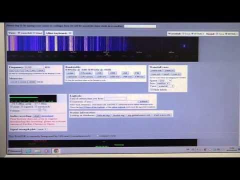 Using WebSDR Shortwave receiver at Twente Netherlands on the Internet