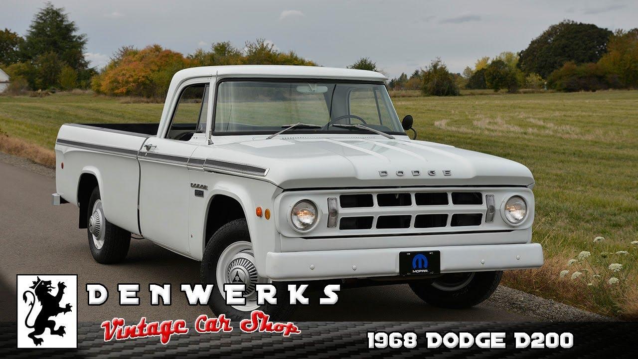 1968 Dodge D200 Camper Special - DENWERKS - YouTube