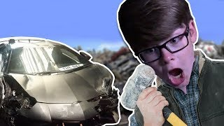 CRUSHING MY CAR!! | Roblox