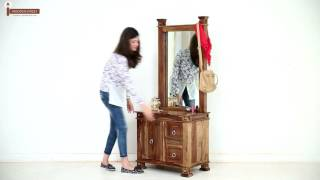 Dressing Tables - Kingsley Dressing Table With Storage Online @ Wooden Street