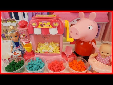 粉紅豬小妹的培樂多黏土爆米花機玩具