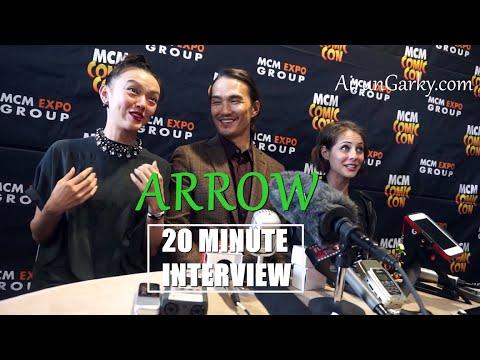 SPOILERS Arrow Interview Willa Holland, Karl Yune & Rila Fukushima