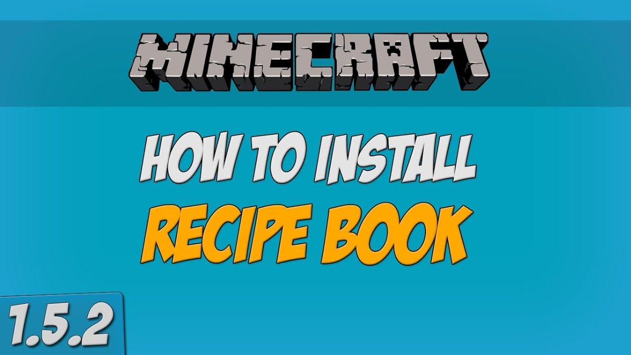 Minecraft Recipe Book Mod