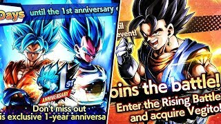 NEW FREE BASE VEGITO & SSB GOKU & VEGETA BLUE! Dragon Ball Legends 1 YEAR ANNIVERSARY