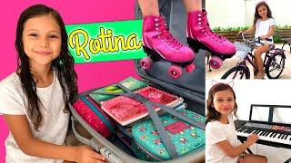 MINHA ROTINA DA MANHÃ EM DIA DE AULA - MY MORNING ROUTINE | Dudinha Show