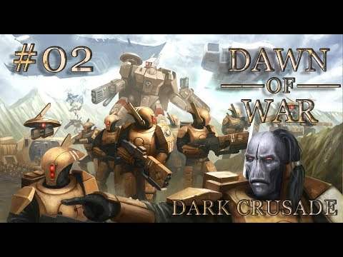 Dawn of War - Dark Crusade. Part 2 - Defeating Space Marines. Tau Campaign. (Hard)