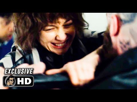THE COURIER Exclusive Clip - Stairwell Fight (2019) Olga Kurylenko