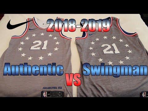 2018-19 Nike NBA Jersey Comparison Authentic Vs Swingman