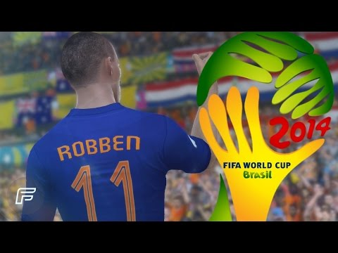 Arjen Robben - All 3 Goals In 2014 World Cup: Brazil (FIFA Remake)