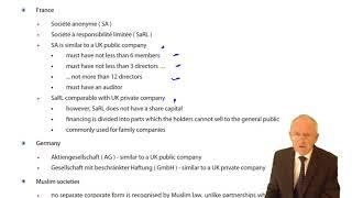 ACCA F4 Global - Company Law - International companies similar to UK companies