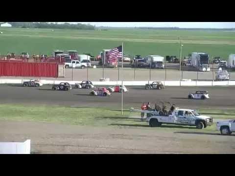 Red River Valley Speedway 06/10/2016 - INEX Legends Heat 1