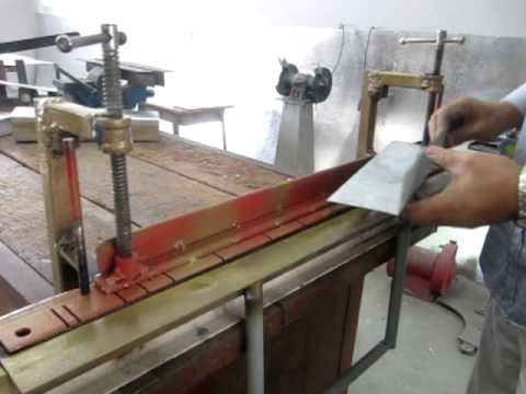 sheet metal bender tool. homemade bending tool -sheet metal brake sheet metal bender