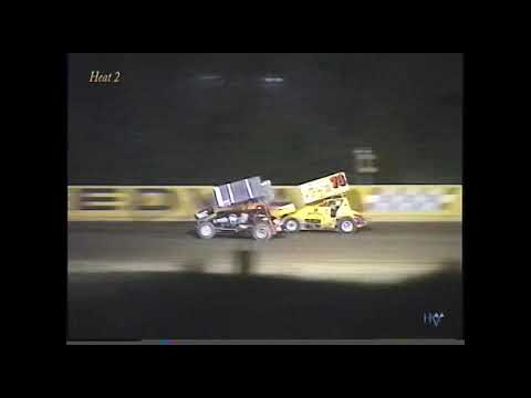 Full race from the Interstate Racing Association Sprint Cars at Hartford Speedway Park in MI August 4, 2000. Blake Feese holds off Brett Mann to take the feature ... - dirt track racing video image