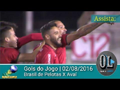 Gols do jogo Brasil de Pelotas 3 x 0 Avaí - Série B (02/08/2016)
