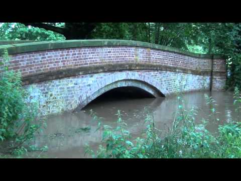 Flooding On The River Bollin And River Dean