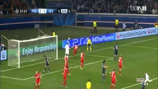 العارضة تمنع ابراهيموفيتش من تسجيل هدف عالمى ضد بايرن ليفركوزن 1-1 [2014/03/12] دوري ابطال اوروبا HD