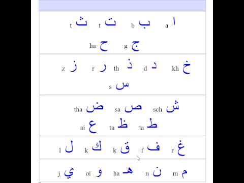 Gemeinsame Arabische Buchstaben einfach lernen - YouTube #KL_19