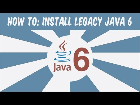 How To Install Legacy Java 6