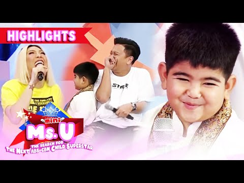 Vice Ganda and Jhong laugh hard because of Yorme   It's Showtime Mini Miss U