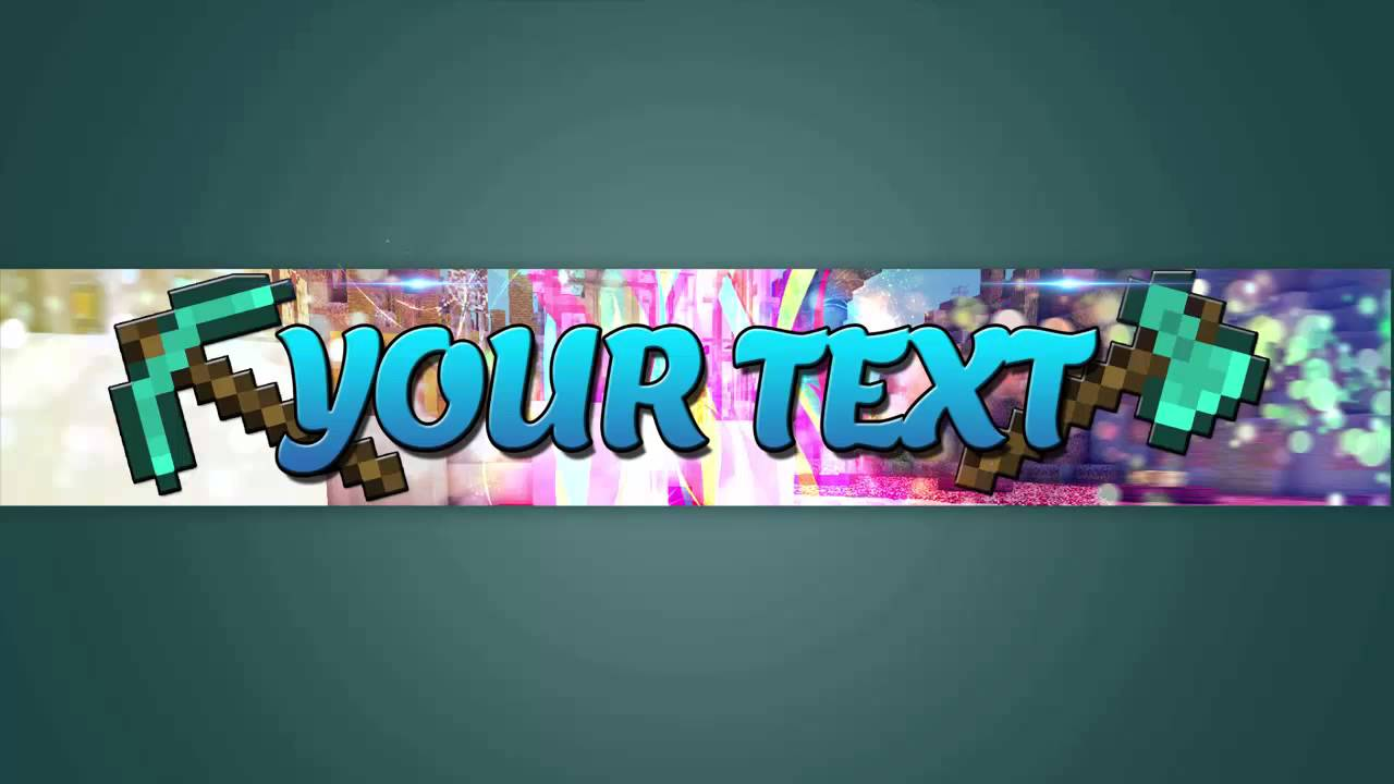 FREE HD Minecraft Youtube Channel Banner Template #2
