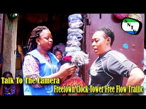 Talk To The Camera - Freetown Clock Tower Free Flow Traffic - Sierra Leone