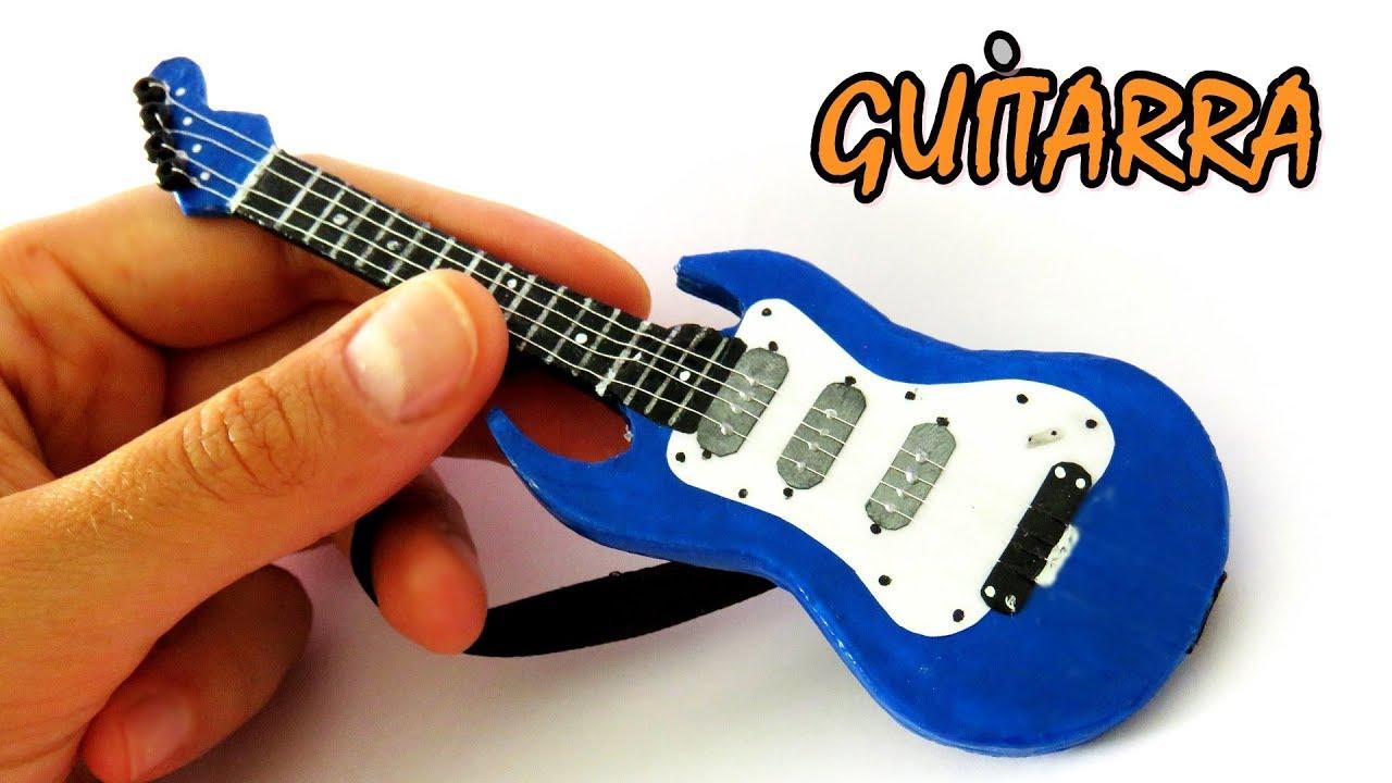Diy c mo hacer mini guitarra para mu ecas manualidades for Guitarras para ninos casa amarilla