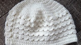 Repeat youtube video Häkeln: Kindermütze - Mädchenmütze - Muschelmuster by BerlinCrochet
