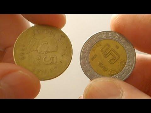 5 Piso Philippines Coin & 5 Peso Mexico