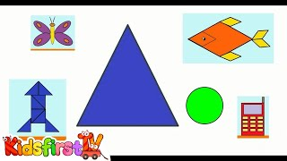 smart kids learn color cartoons for children 2 create with shapes 聪明的孩子创建具有彩色形状 abc 123