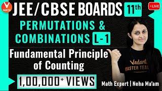 Permutations & Combinations L-1   Fundamental Principe Of Counting   Class 11   JEE 2021   Vedantu