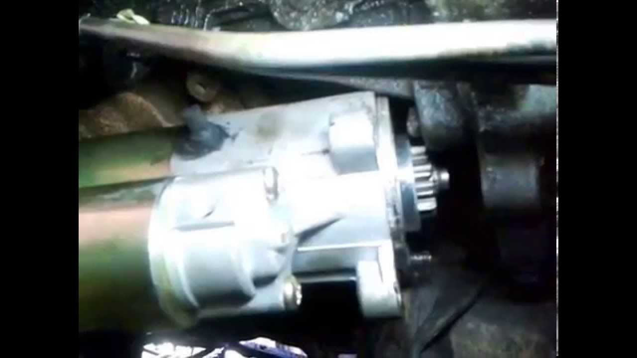 replace the starter motor in a 2001 ford f 150 4x4 w 4 6l engine youtube [ 1280 x 720 Pixel ]