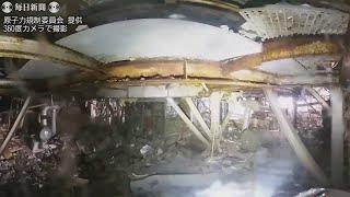 福島第1原発3号機内部、毎時108ミリシーベルト 規制委が調査映像公開