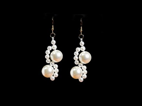 Pearl Earrings Tutorial Quick And Easy