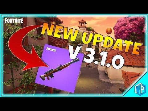 FORTNITE UPDATE: V.3.1.0 PATCH NOTES - Fortnite Battle Royale - Hunting Rifle & Lucky Landing!