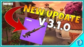 FORTNITE UPDATE: V.3.1.0 PATCH NOTES - Fortnite Battle Royale - hunting rifle & lucky landing!