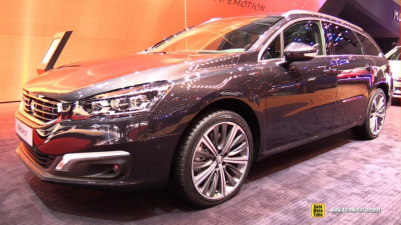 2016 peugeot 508 sw gt exterior and interior walkaround 2016 geneva motor show youtube. Black Bedroom Furniture Sets. Home Design Ideas