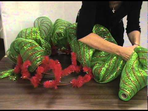 Deco Mesh Wreath Making Prairie Gardens Youtube