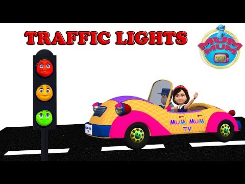 Traffic Lights Song with Lyrics - Nursery Rhymes for Children, Kids, Preschoolers | Mum Mum TV