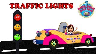 Download youtube to mp3: Traffic Lights Song with Lyrics - Nursery Rhymes for Children, Kids, Preschoolers | Mum Mum TV