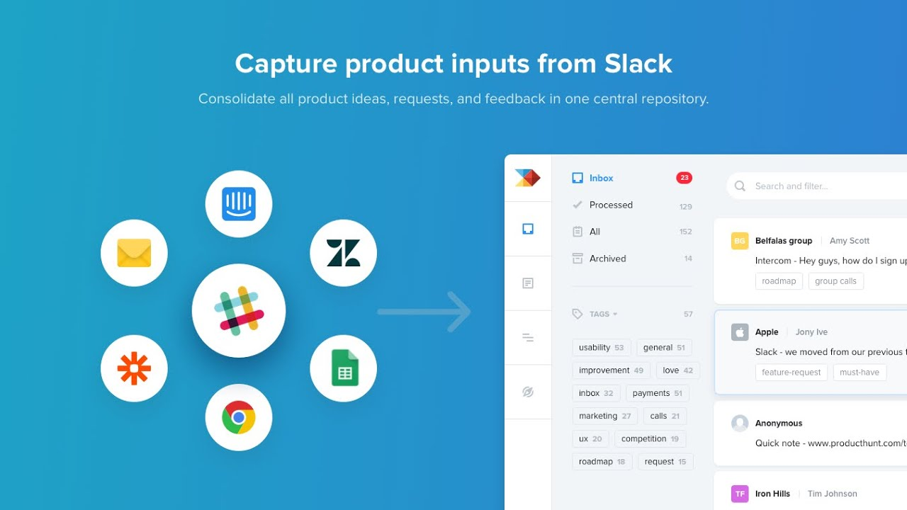 Product Insights for Slack by Productboard