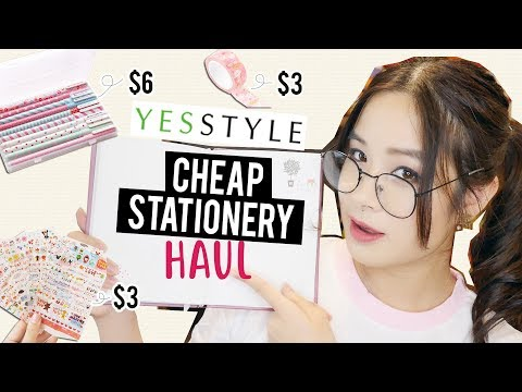 I TRIED CHEAP & CUTE STATIONERY FROM YESSTYLE! | Back to Sch
