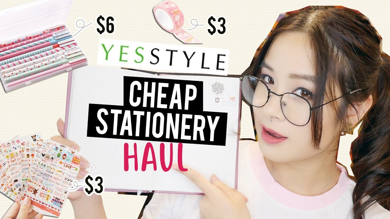 I TRIED CHEAP & CUTE STATIONERY FROM YESSTYLE! | Back to School Haul